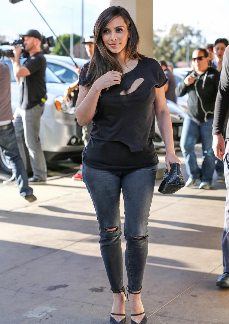 Kim Kardashian Casual Style 2014